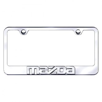 Autogold® - Mazda Name Chrome Logo on Chrome Frame