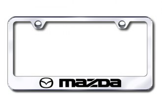 Autogold® - Laser Etched Mazda Logo on Chrome Metal Frame