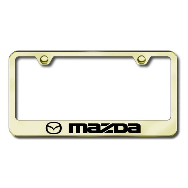 Autogold® - Mazda Logo on Gold Frame