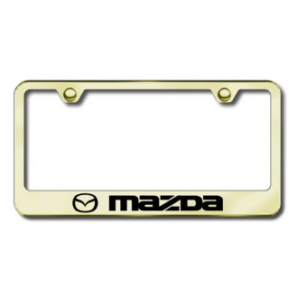 AutoGold� - Mazda Logo on Gold Frame