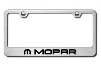 Autogold® - Laser Etched Mopar Logo on Brushed Stainless Metal Frame