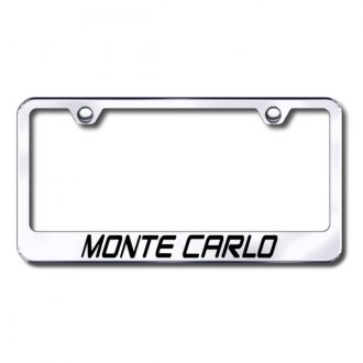 Autogold® - Laser Etched Monte lo Logo on Chrome Frame