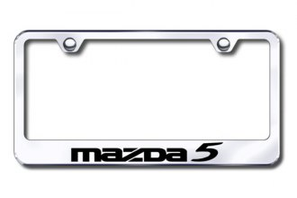 Autogold® - Laser Etched Mazda 5 Logo on Chrome Metal Frame