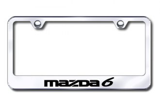Autogold® - Laser Etched Mazda 6 Logo on Chrome Frame