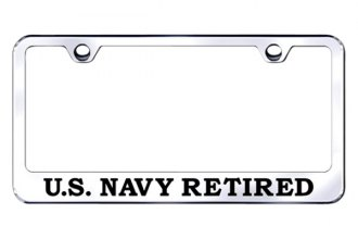 Autogold® - US Navy Retired Logo on Chrome Frame