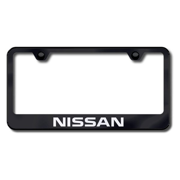 Autogold® - Laser Etched Nissan Logo on Black Frame
