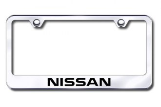 Autogold® - Laser Etched Nissan Logo on Chrome Metal Frame