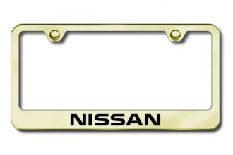 Autogold® - Laser Etched Nissan Logo on Gold Metal Frame