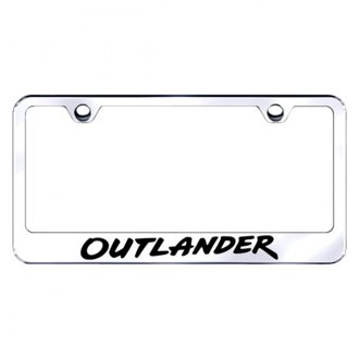 Autogold® - License Plate Frame with Laser Etched Outlander Logo