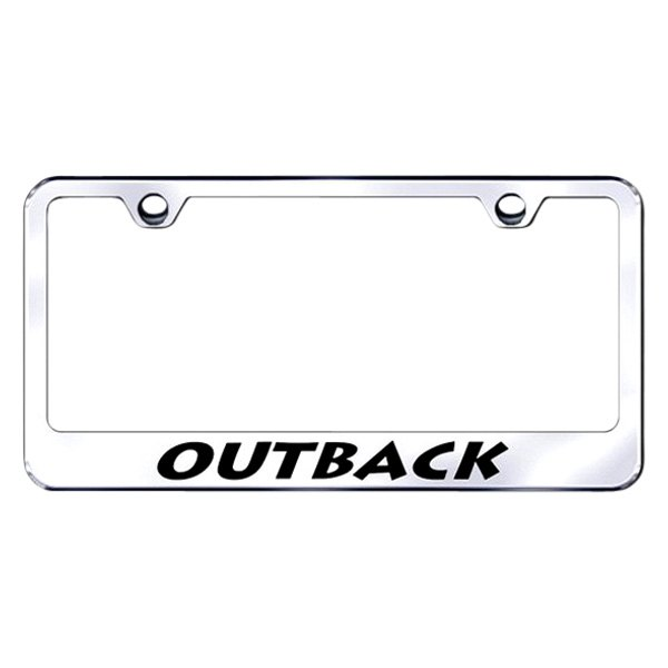 Autogold® - Outback Logo on Chrome Frame