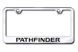 Autogold® - Laser Etched Pathfinder Logo on Chrome Metal Frame