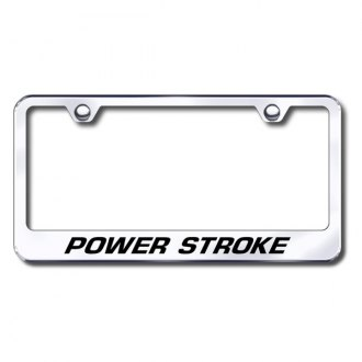 Autogold® - Laser Etched Powerstroke Logo on Chrome Frame