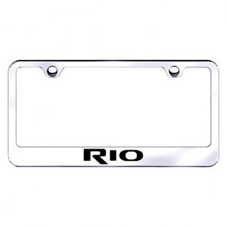 Autogold® - Chrome License Plate Frame with Laser Etched Rio Logo
