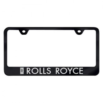 Autogold® - Black License Plate Frame with Laser Etched Rolls-Royce Logo
