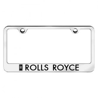 Autogold® - Chrome License Plate Frame with Laser Etched Rolls-Royce Logo
