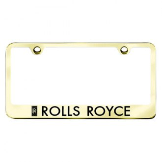 Autogold® - Gold License Plate Frame with Laser Etched Rolls-Royce Logo