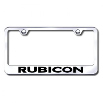 Autogold® - Laser Etched Rubicon Logo on Chrome Frame
