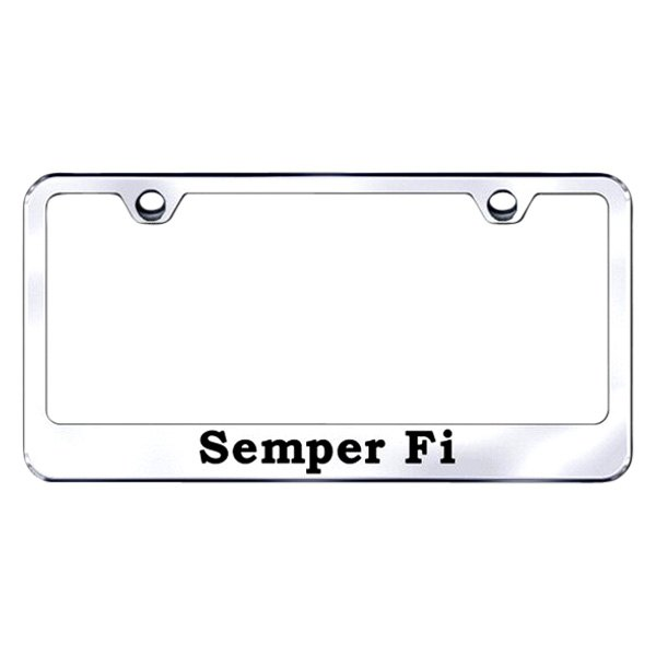 Autogold® - Semper Fi Logo on Chrome Frame