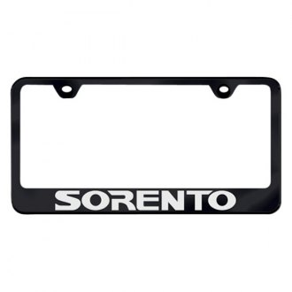 Autogold® - License Plate Frame with Laser Etched Sorento Logo