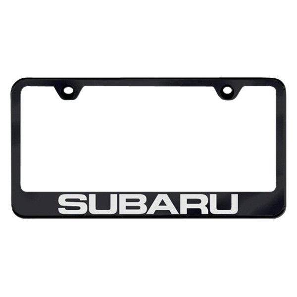 Autogold® - Subaru Logo on Black Frame