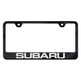 Autogold® - Subaru Laser Etched Logo on Black Frame