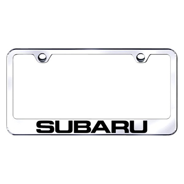 Autogold® - Laser Etched Subaru Logo on Chrome Metal Frame