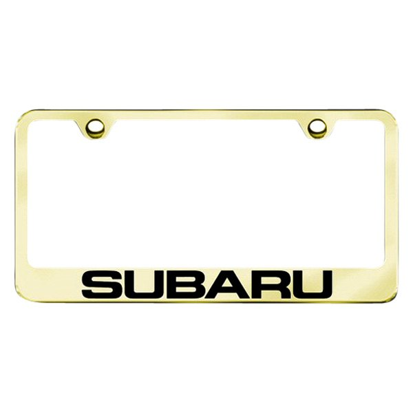 Autogold® - License Plate Frame with Laser Etched Subaru Logo