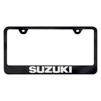 Autogold® - Laser Etched Suzuki Logo on Black Frame