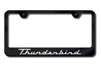 Autogold® - Laser Etched Thunderbird Logo on Black Frame