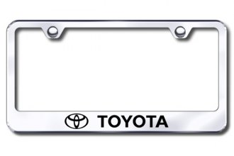 Autogold® - Laser Etched Toyota Logo on Chrome Metal Frame