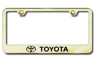 Autogold® - Laser Etched Toyota Logo on Gold Metal Frame