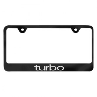 Autogold® - License Plate Frame with Laser Etched Turbo Logo