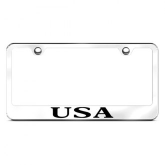 Autogold® - USA Logo on Chrome Frame