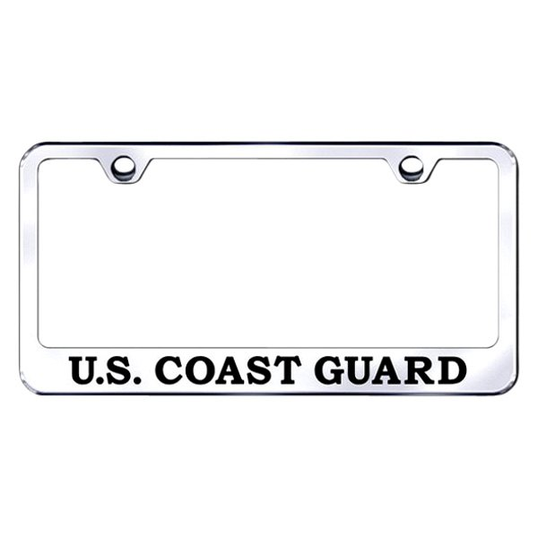 Autogold® - License Plate Frame with Laser Etched U.S. Coast Guard Logo