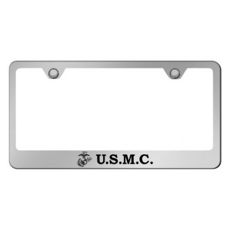 Autogold® - US Marine Corps Logo on Chrome Frame
