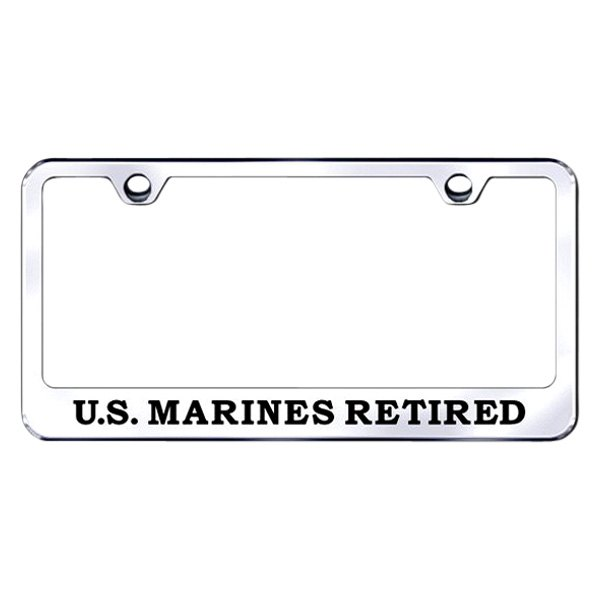 Autogold® - US Marines Retired Logo on Chrome Frame