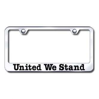 Autogold® - United We Stand Laser Etched Logo on Chrome License Frame