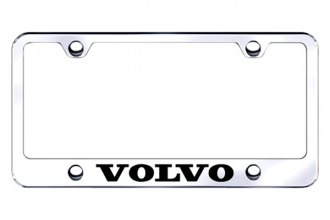 Autogold® - Laser Etched Volvo Logo on Chrome Metal Frame
