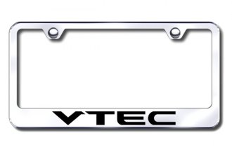 Autogold® - Laser Etched VTEC Logo on Chrome Frame