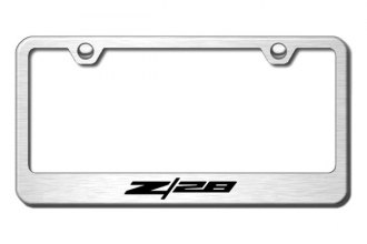 Autogold® - Z28 Logo on Brushed Stainless Frame