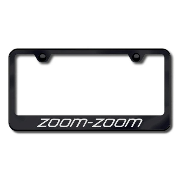 Autogold® - Laser Etched Zoom Zoom Logo on Black Frame