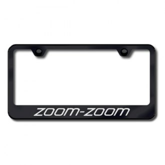 Autogold® - Laser Etched Zoom-Zoom Logo on Black License Frame