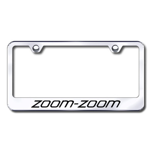 Autogold® - Laser Etched Zoom Zoom Logo on Chrome Frame