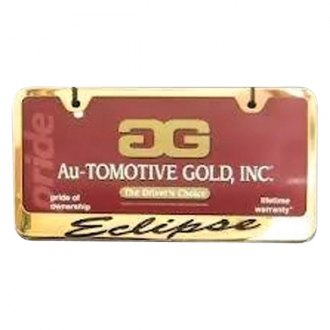 Autogold® - License Plate Frame with Script Laser Etched Eclipse Logo