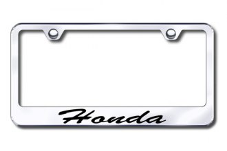 Autogold® - Honda Script Logo on Chrome Frame