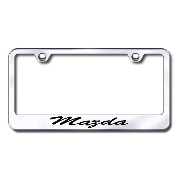 Autogold® - Mazda Script Logo on Chrome Frame