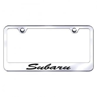 Autogold® - Subaru Script Laser Etched Logo on Chrome Frame