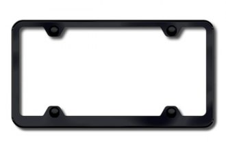 Autogold® - Plain 4-Hole Wide Body Black Powder-Coated Frame