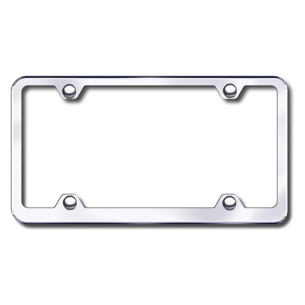 Autogold® - Plain 4-Hole Wide Body Chrome Frame