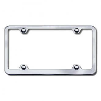 Autogold® - Plain 4-Hole Wide Body Brushed Stainless Steel License Frame